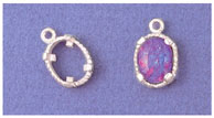 a16269 14kt White Gold Oval Cabochon Dangle for Triplet Opal For a 10X8mm Oval Triplet-Cut Cabochon Stone