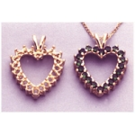 a10368 14kt Yellow Gold Cluster Heart Pendant For (20) 2.25mm Round Faceted Gems. Use only diamond cut stones.