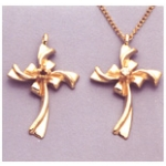 a10651 14kt Yellow Gold Cross Pendant For a 2.25mm Round Faceted Gem. Use diamond cut stones.