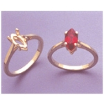 a11602 14kt Yellow Gold Ladies Wire Mount Marquise Ring For a 10X5mm Marquise Cut Faceted Gem. Finger Size 5