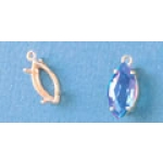 a12861 14kt Yellow Gold Marquise Shape Cast Wire Dangle Pendant For an 8X4mm Marquise Cut Faceted Gem.