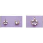 a15827 14kt White Gold Round Four Prong Head For a 1.6mm Round Faceted Gem. Use with well proportioned stones.