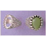 a17597 Sterling Silver Men's Donello Cabochon Ring For a 10X8mm Oval Cabochon Cut Stone. Finger Size 10