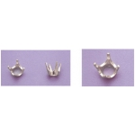 a19050 Sterling Silver Round Four Prong Head For a 1.6mm Round Faceted Gem. Use with well proportioned stones.