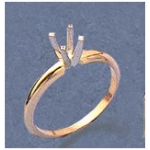 a20247 14kt 2-Tone Gold Four-Prong Two-Tone Die Struck Solitaire Ring 4mm Round Four-Prong Two Tone Die Struck Ring. Not Pre-Notched.