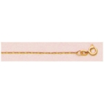 "a21682 14kt Yellow Gold Light Cable Chain 16"" Neckchain.  Types of Clasps May Vary from Illustrations."