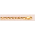 "a21686 14kt Yellow Gold Open Curb Chain 20"" Neckchain.  Types of Clasps May Vary from Illustrations."