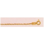 "a21717 14kt Yellow Gold Extra Light Nugget Chain 16"" Neckchain.  Types of Clasps May Vary from Illustrations."