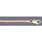 "a21753 14kt Yellow Gold Curb Chain 18"" Neckchain.  Types of Clasps May Vary from Illustrations."