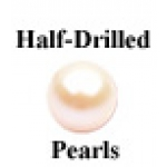 a25858 810-911-0300-34 3mm Round Half-Drilled Cultured Pearl