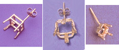 Examples of Square Cut Earrings