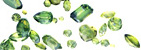 Examples of Faceted peridot Gems
