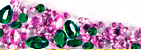 Examples of Faceted Green or Pink Tourmaline Gems