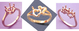 Examples of Heart Shape Faceted Rings
