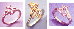 Examples of Rings for Marquise Cut Faceted Gems