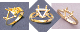 Example of Trillion Cut Rings