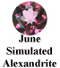 June Simulated Alexandrite Example