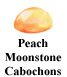 Peach Moonstone Cabochon Example