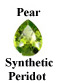 Example of Pear Shape Faceted Peridot
