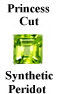 Example of Square Shape Faceted Peridot