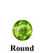 Example of Round Faceted Peridot