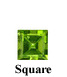 Example of Square Cut Faceted Peridot