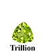 Example of Trillion Cut Faceted Peridot